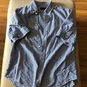 Tops - Blue gingham shirt